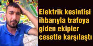 Elektrik kesintisi ihbarıyla trafoya giden ekipler cesetle karşılaştı