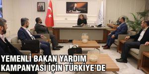 Yemenli Bakan yardım kampanyası için Türkiye'de