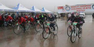 Gaziantep'te bisiklet yarışmasına yoğun katılım