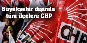 Büyükşehir dışında  tüm ilçelere CHP