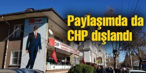 Paylaşımda da CHP dışlandı