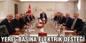 Yerel basına elektrik desteği