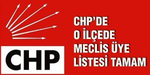 CHP'de o ilçede meclis üye listesi tamam