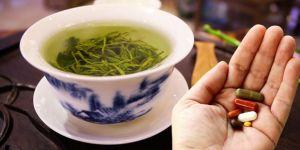 Bitki çaylarıyla ilaç içmeyin! Yeşil çay felç edebilir