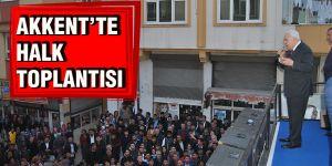 Akkent'te halk toplantısı