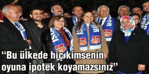 """Bakan Gül: """"Bu ülkede hiç kimsenin oyuna ipotek koyamazsınız"""""""
