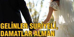 Gelinler Suriyeli, damatlar Alman