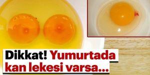 Yumurtada kan lekesi varsa ne anlama gelir?
