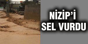 Nizip'i sel vurdu