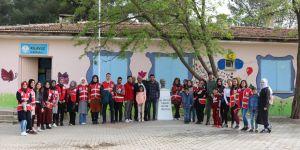 Köy okulları renklendi