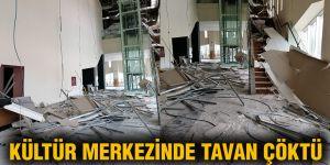 Kültür merkezinde tavan çöktü