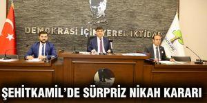 Şehitkamil'de sürpriz nikah kararı