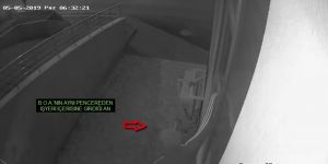 Hırsızlar kameraya takıldı