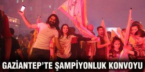 Gaziantep'te şampiyonluk konvoyu
