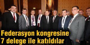 Federasyon kongresine 7 delege ile katıldılar
