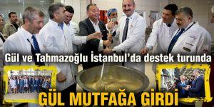 Gül ve Tahmazoğlu İstanbul'da destek turunda
