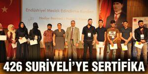426 Suriyeli'ye sertifika