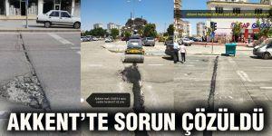 Akkent'te sorun çözüldü