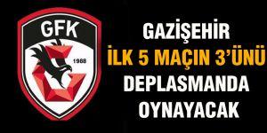 Gazişehir ilk 5 maçın 3'ünü deplasmanda oynayacak