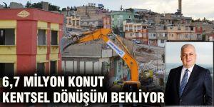 6,7 milyon konut kentsel dönüşüm bekliyor