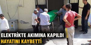 ELEKTRİKTE AKIMINA KAPILDI