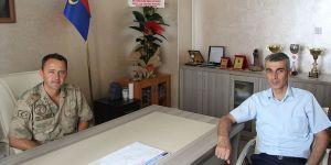 İlçe Jandarma Komutanı'na ziyaret