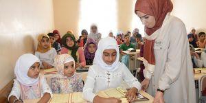 Sosyal tesiste Kur'an-ı Kerim öğreniyorlar