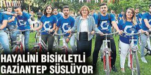 Hayalini Bisikletli  Gaziantep süslüyor