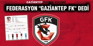 """Federasyon """"Gaziantep FK"""" dedi"""