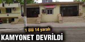 KAMYONET DEVRİLDİ