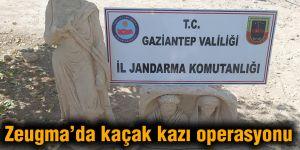 Zeugma'da kaçak kazı operasyonu