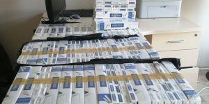 İslahiye'de karton karton kaçak sigara bulundu