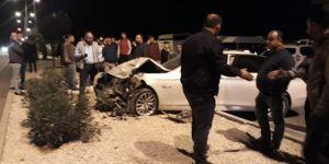 Nurdağı'nda iki araç çarpıştı