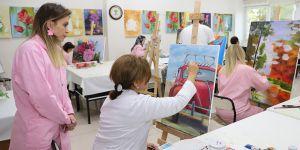 Resim kursuna büyük ilgi