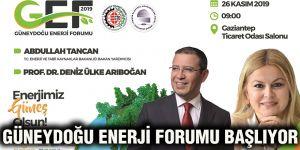 Güneydoğu Enerji Forumu başlıyor