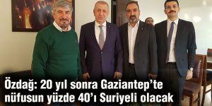 Özdağ: 20 yıl sonra Gaziantep'te nüfusun yüzde 40'ı Suriyeli olacak