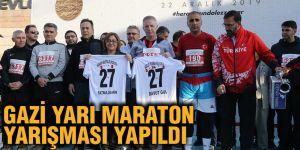 Gazi yarı maraton yarışması yapıldı