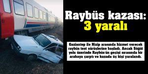Raybüs kazası: 3 yaralı