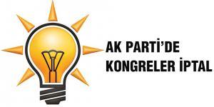 Ak Parti'de kongreler iptal