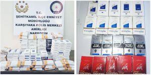 2 bin 57 paket sigara ele geçirildi