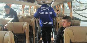 Otobüslerde yolcu denetimi