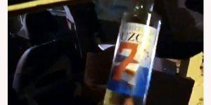 112 şişe sahte alkol ele geçirildi