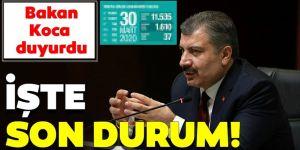 Türkiye'de coronavirüs vakalarında son durum!