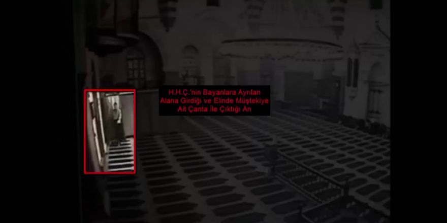 Camide namaz kılan kadının çantasını çalan şahıs yakalandı