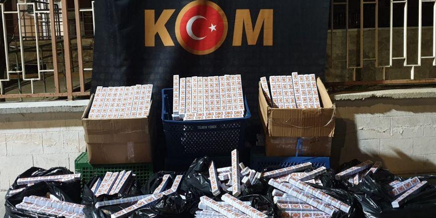 15 bin 30 paket kaçak sigara kağıdı ele geçirildi