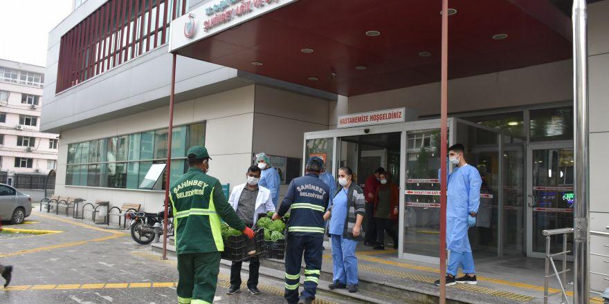 Şahinbey'de vatandaşlara reyhan çiçeği dağtıldı