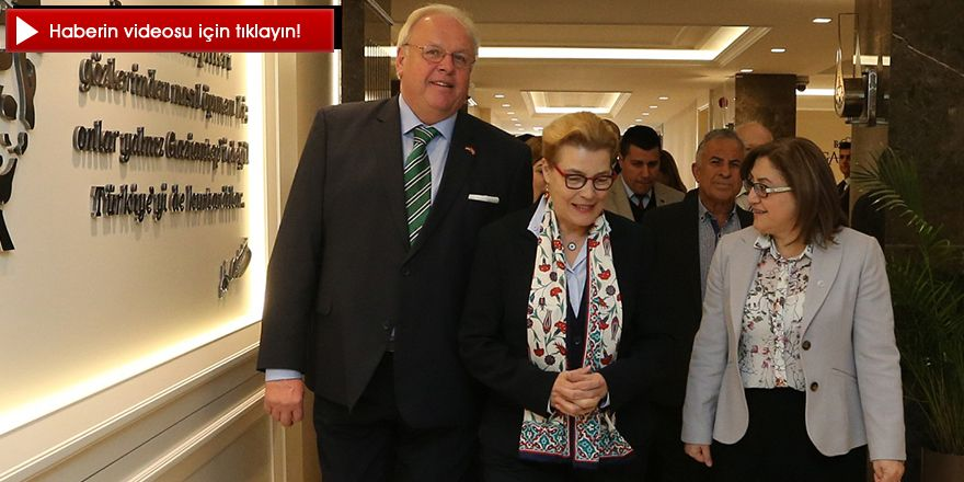 ALMANYA ANKARA BÜYÜKELÇİSİ ERDMANN'DAN ŞAHİN'E ZİYARET
