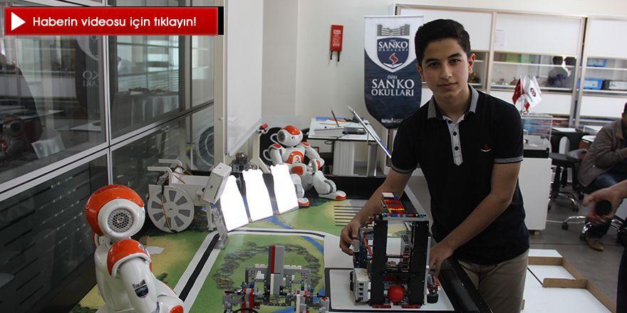 ABD'deki Robot yarışmalarına  Gaziantepli öğrenciler damga vurdu