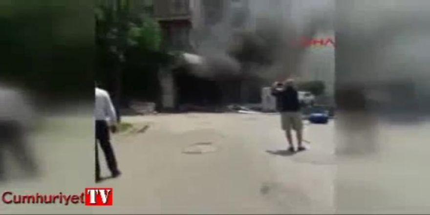 Maltepe'deki patlamanın hemen ardından yaşananlar kamerada