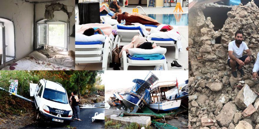 Ege'deki deprem sonrası son durum!